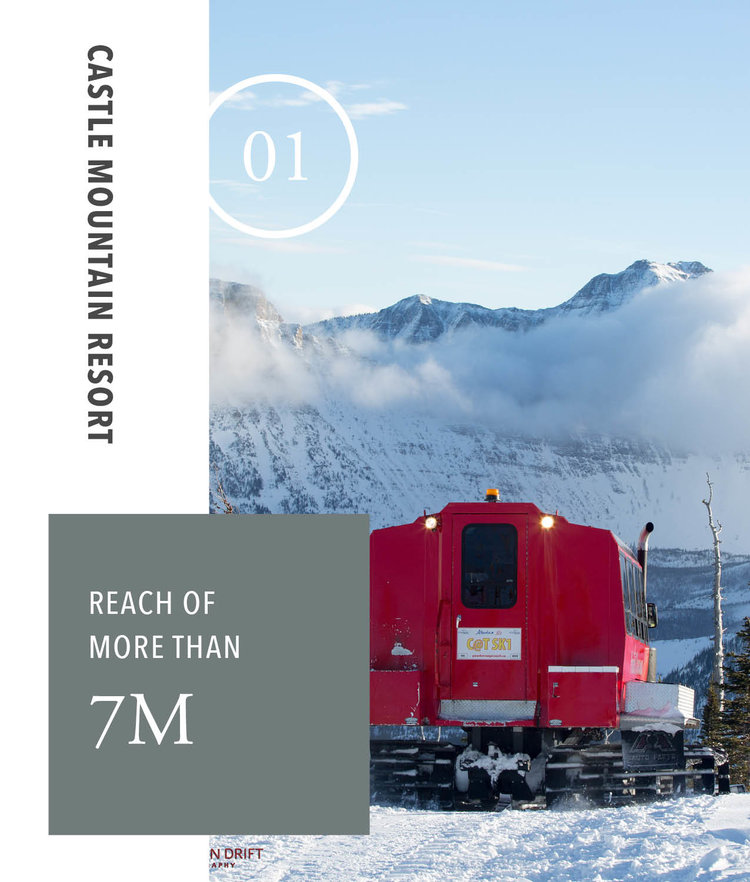 Castle Mountain Resort - Reach of more than 7m