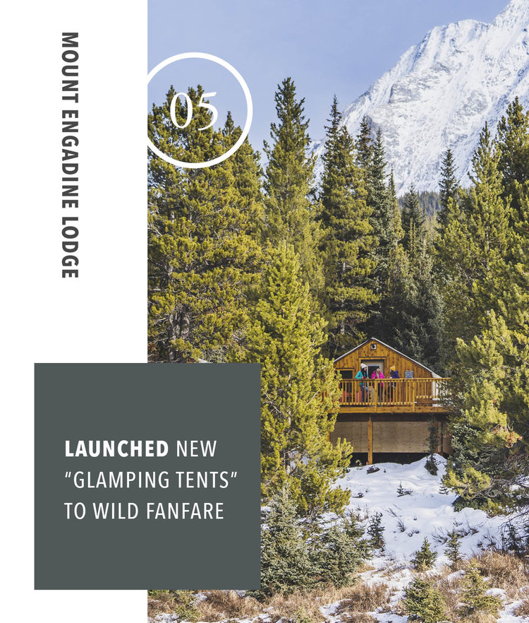 Mount Engadine Lodge - Launched new 'Glamping Tents' To Wild Fanfare
