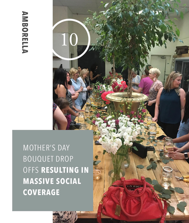 Amborella - Mother's Day Bouquet Drop Offs - Social Media Coverage