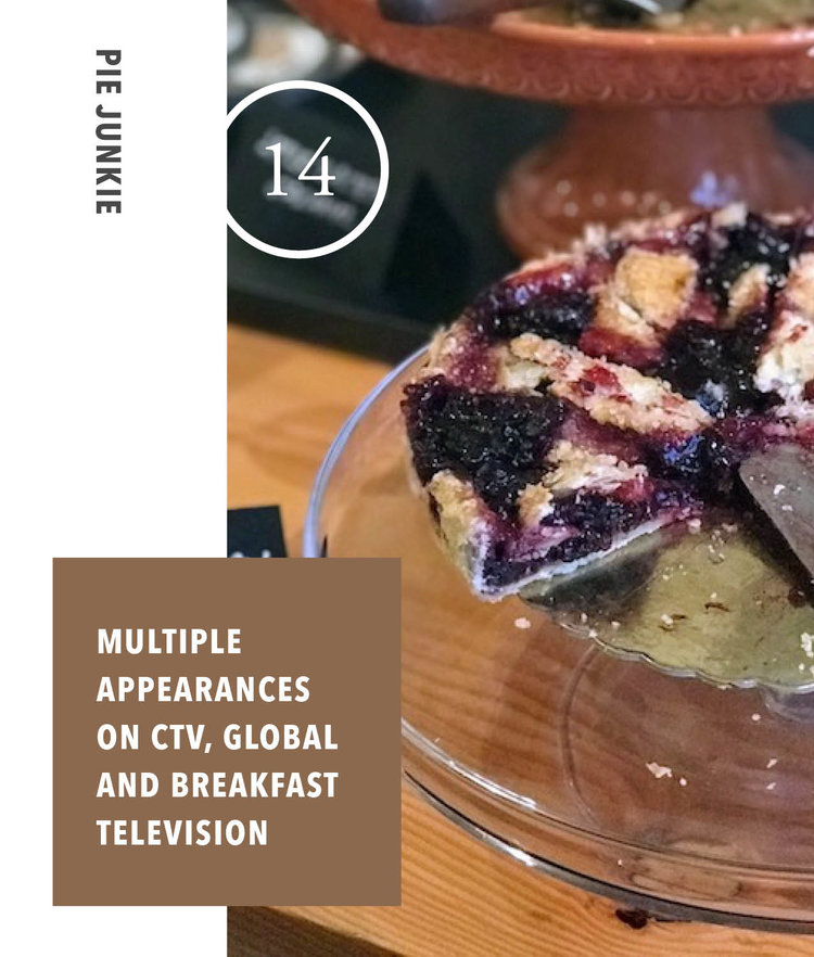 Pie Junkies - Multiple Appearances on CTV, Global and Breakfast Television
