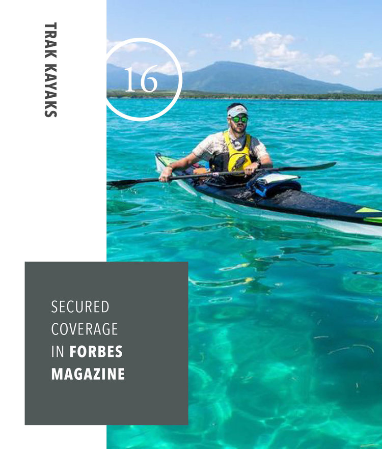 Trak Kayaks - Secured coverage in Forbes Magazine
